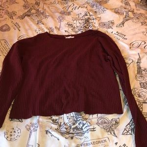 Sweaters - Burgundy long sleeve